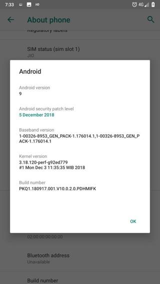Xiaomi Mi A1 Android 9.0 Pie Beta OTA Update screenshot 2