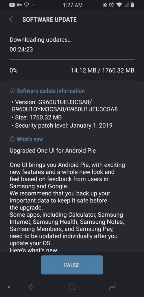 Unlocked Galaxy S9 and S9 Plus variants get Android 9 Pie