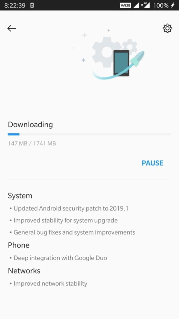 Oxygen OS 9.0.4 OTA update log