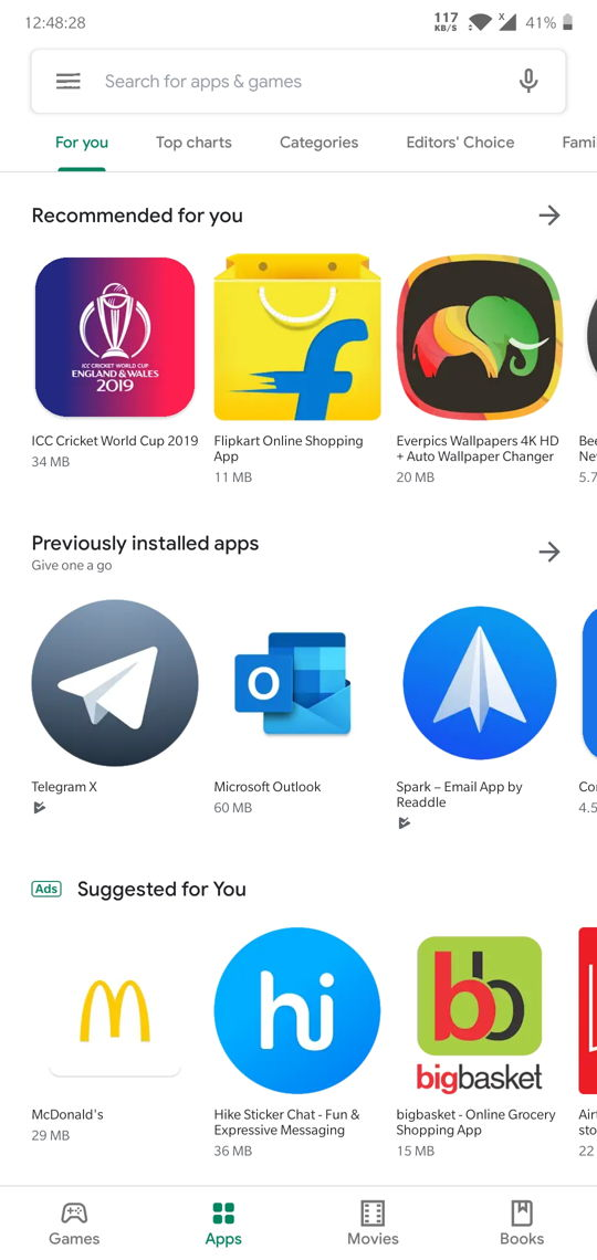 Google Play Store Material Design 2