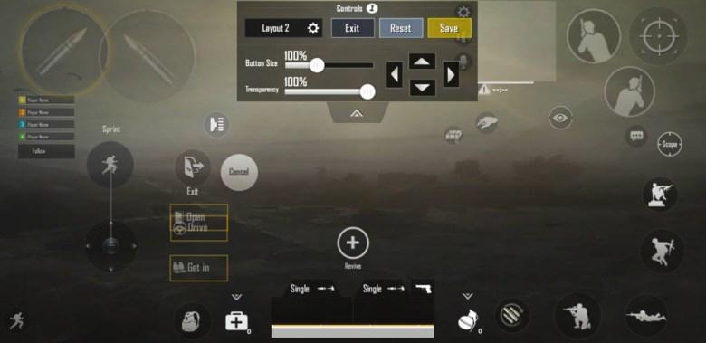PUBG mobile control settings