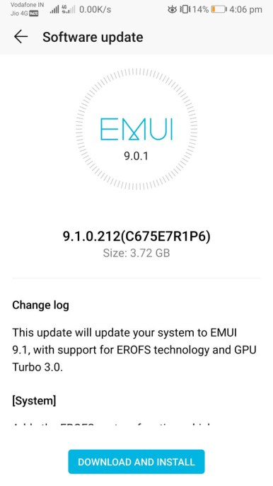 Huawei P20 EMUI 9.1 Andorid 9 Pie