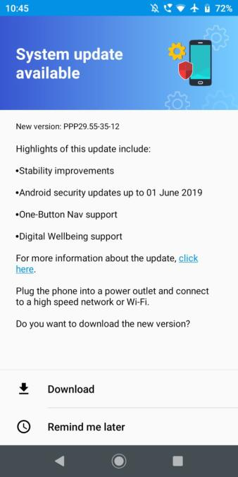Moto G6 Play June 2019 security patch