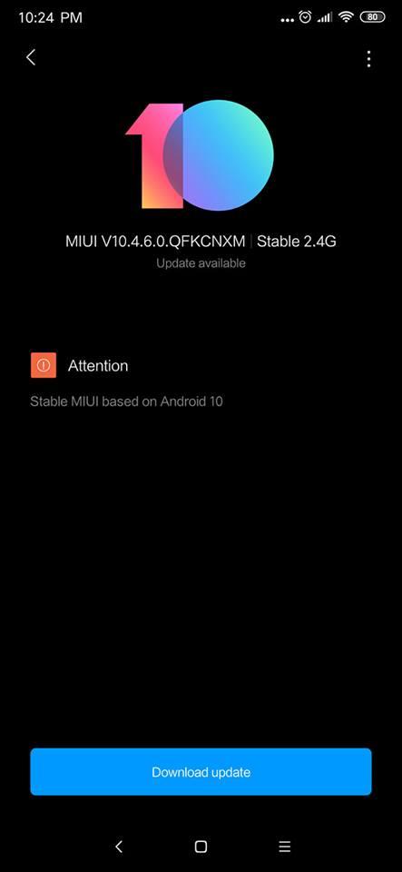 Xiaomi redmi K20 pro andorid 10 ota update