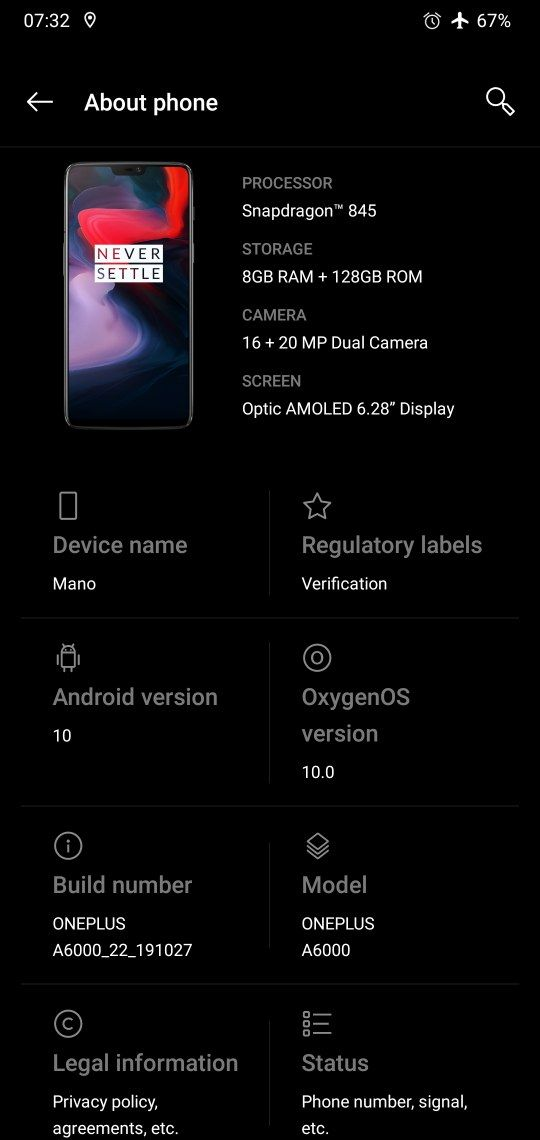 Download stable Android 10 for OnePlus 6 based on Oxygen OS 10 OTA update