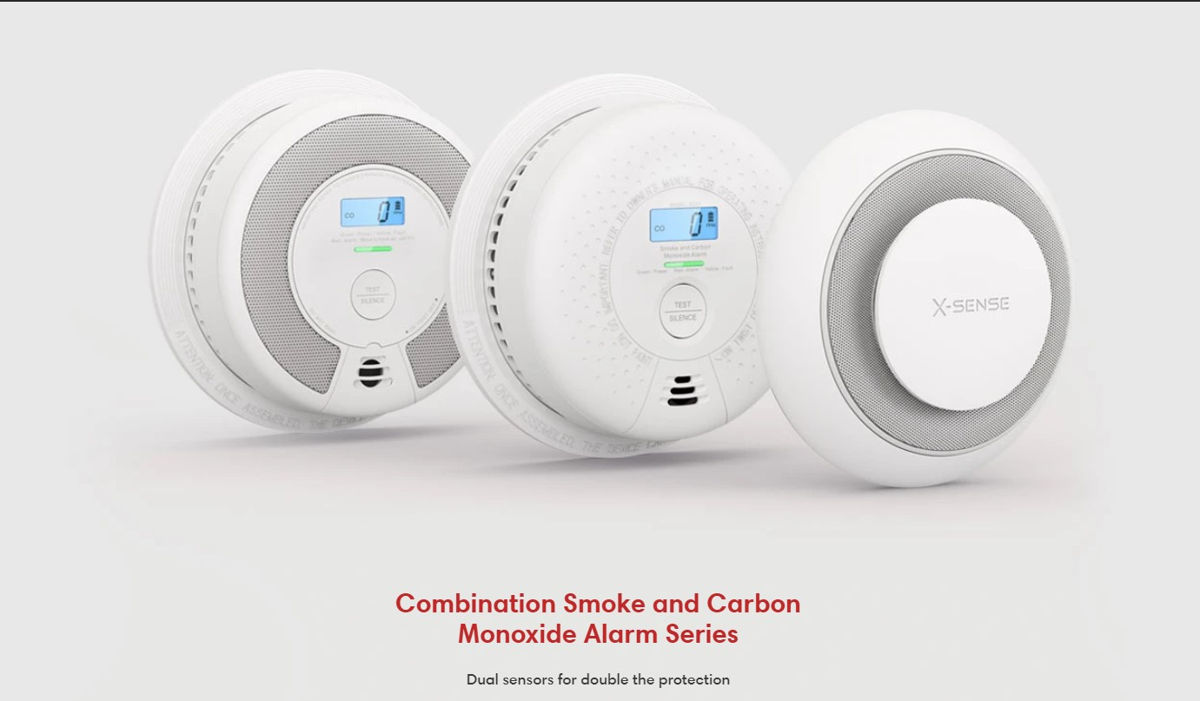 X-Sense Smoke detectors, Carbon Monoxide Detector, and combination alarms