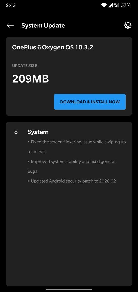Oxygen OS 10.3.2 ota update for oneplus 6 and 6T