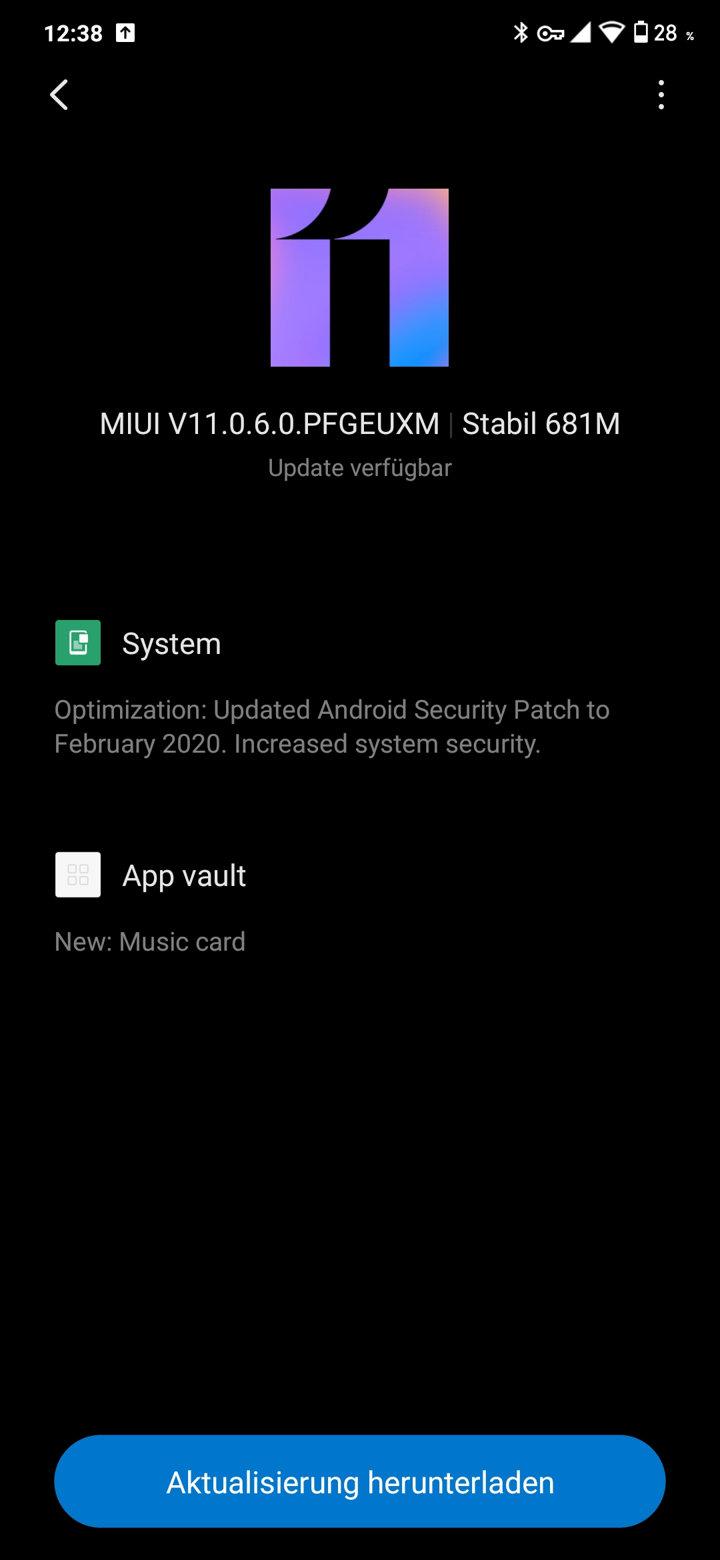 Xiaomi Redmi Note 7 latest MIUI 11.0.6.0 OTA update download