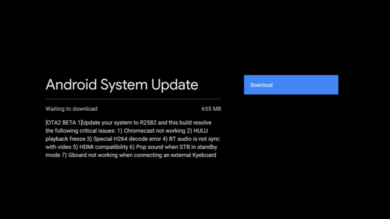 Android 9 Pie Beta for Mi Box S with OTA 2 Beta 1 Update