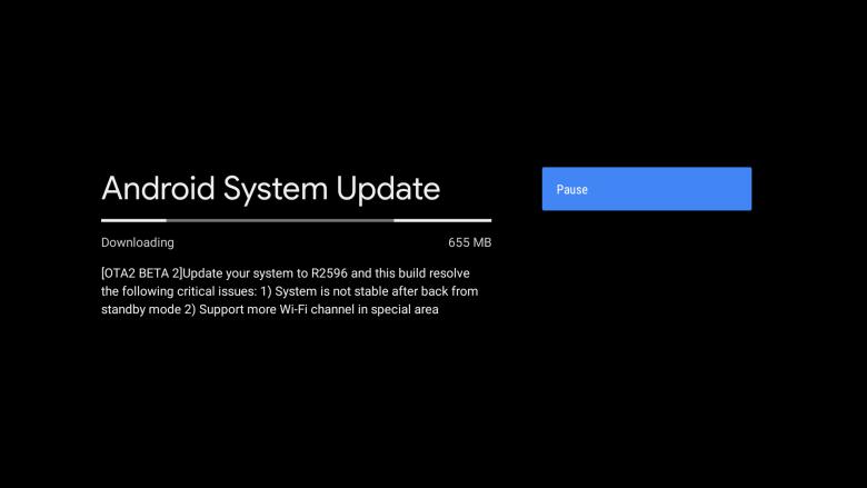 new Android 9 Pie ota 2 Beta 2 for Mi Box S Update download