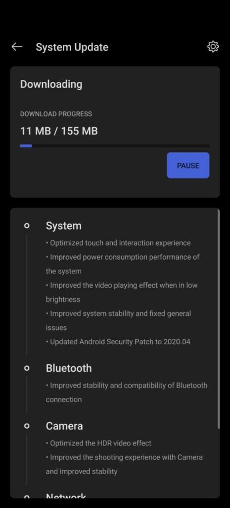 Oxygen OS 10.5.8 ota update in USA