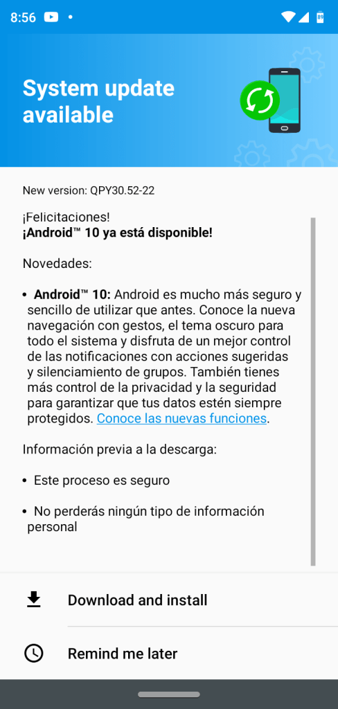 Moto G7 Play android 10 ota update