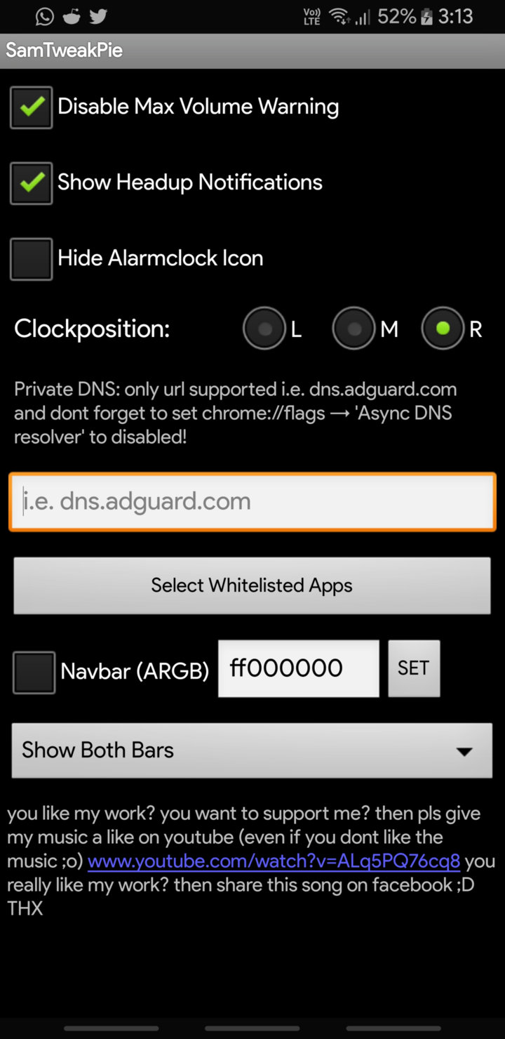 whitelist apps from Adguard DNS