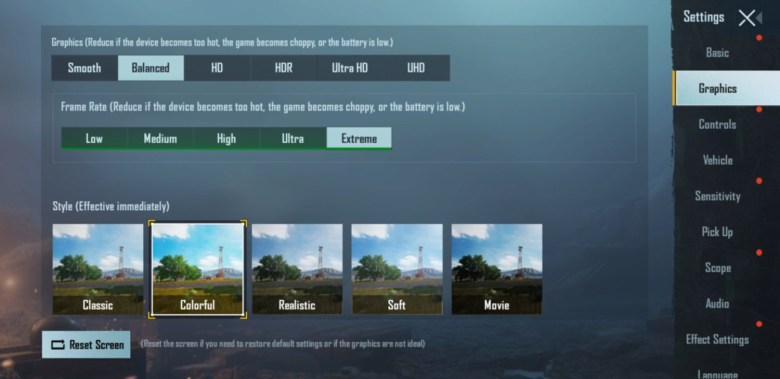 Screenshot PUBG MOBILE ultra graphics and extreme FPS