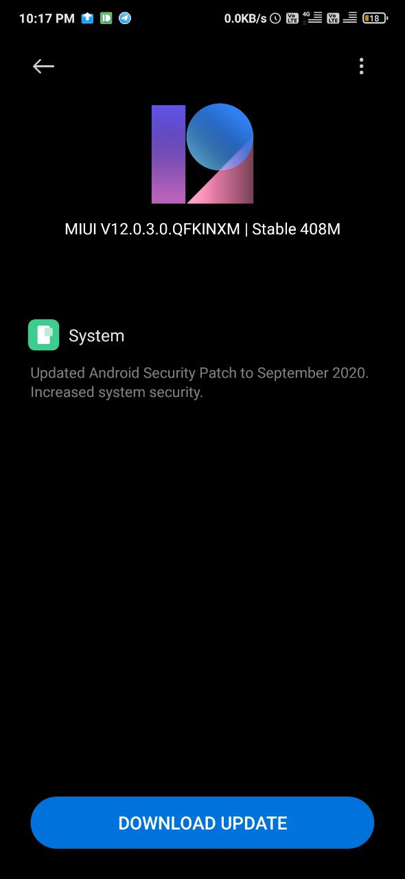 Xiaomi Redmi K20 Pro MIUI 12.0.3.0