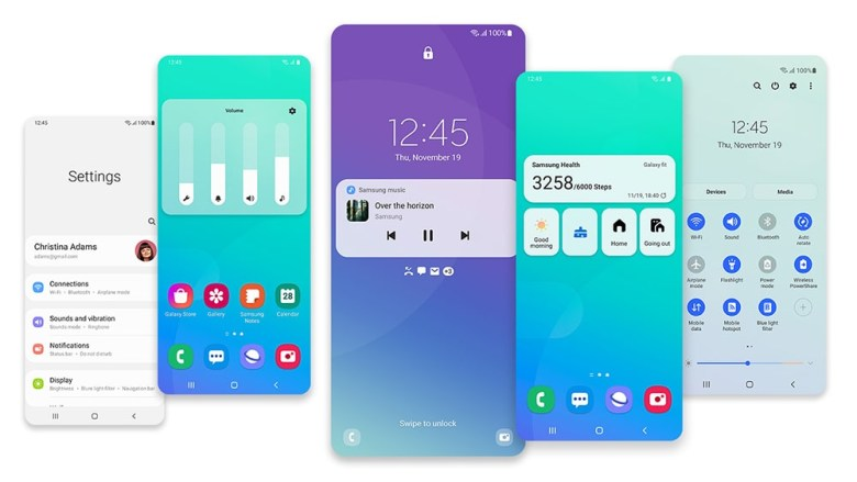 Samsung One UI 3 with Android 11