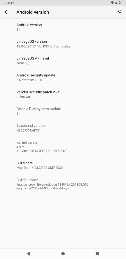 lineage os 18 for galaxy s9 android 11