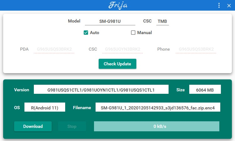 downloading one ui 3 based android 11 full firmware for s20 fe