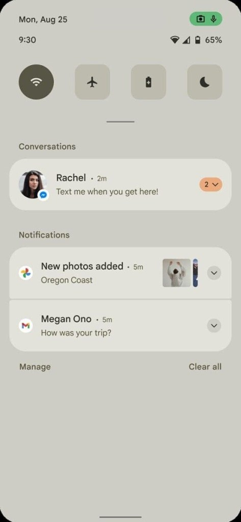 Android 12 screenshots by androidsage.com