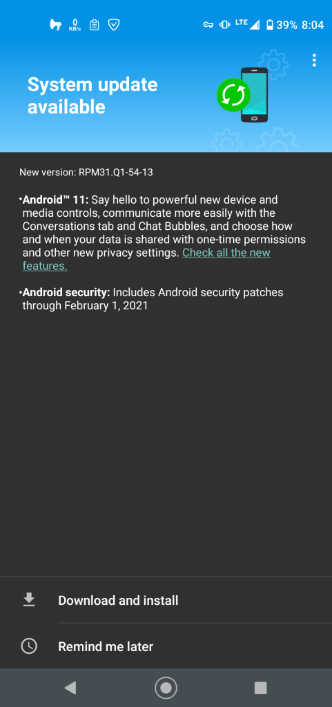 Android 11 for Moto G Power 2020-min