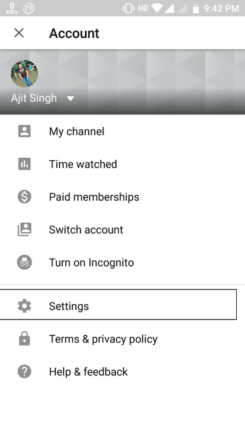 how to make youtube dark mode android