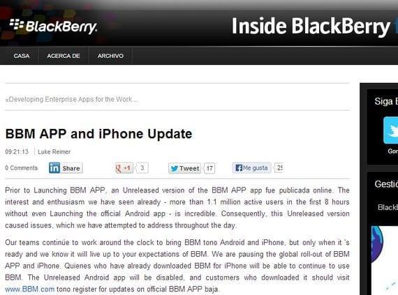 bbm para android que esta pasando BBM para Android ¿Qué está pasando?