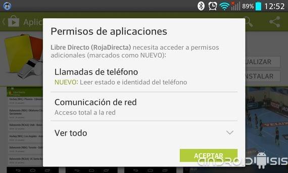 mas sobre los permisos en android nuevas concesiones en las actualizaciones cuatro Más sobre los permisos en Android, nuevas concesiones en las actualizaciones