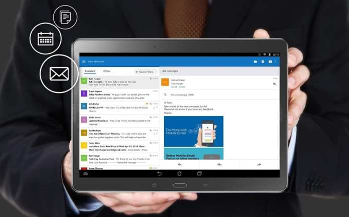 Microsoft: Outlook mail application to Android