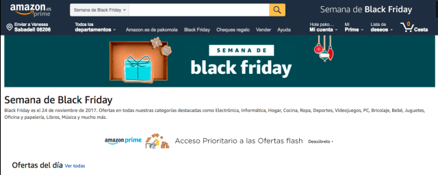 Ofertas irresistibles en Amazon℗ para este Black Friday