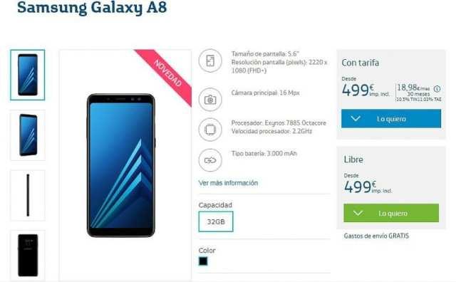 Samsung Galaxy℗ A8 en Movistar℗ España