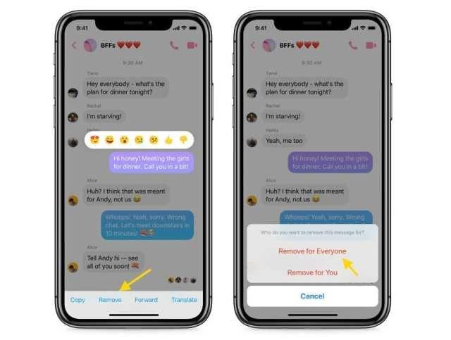 Eliminar mensajes Facebook℗ Messenger