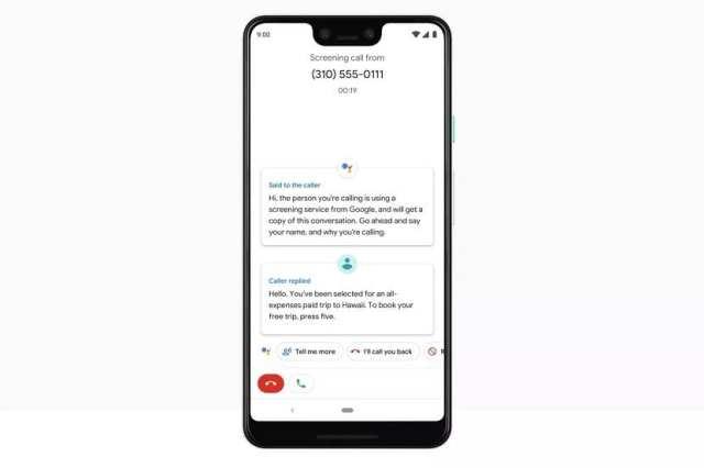 Screen Call Pixel 3 XL