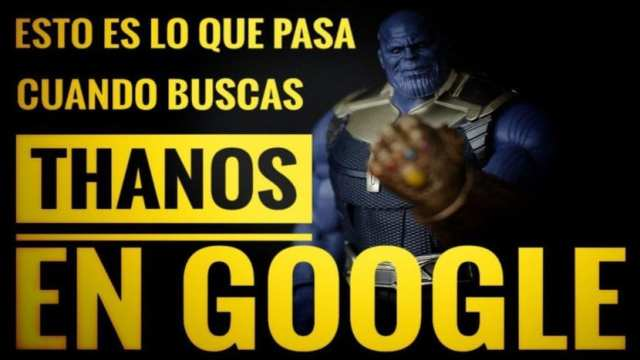 Thanos buscador Google