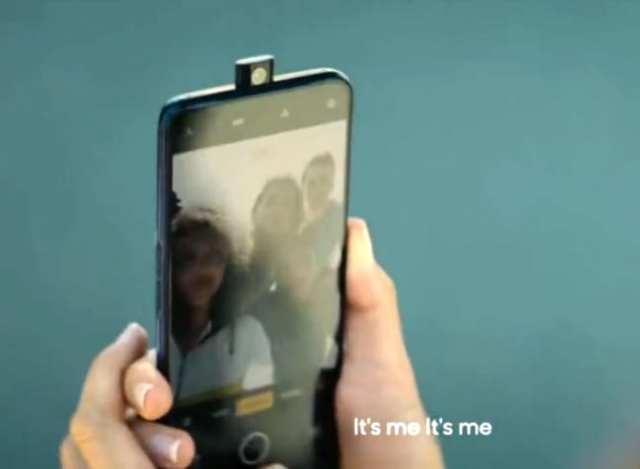 Realme X con cámara emergente filtrado en foto