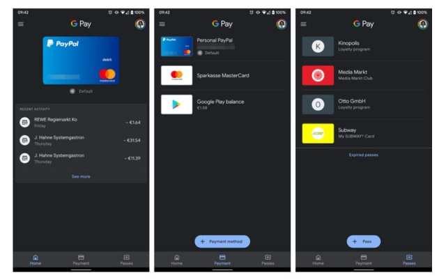 Google Pay manera oscuro