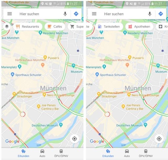 Google Maps accesos directos