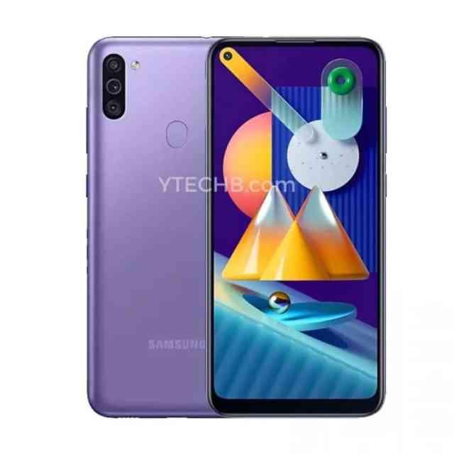 Samsung Galaxy℗ M11 púrpura render