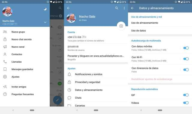 Cómo liberar espacio de almacenamiento en Telegram