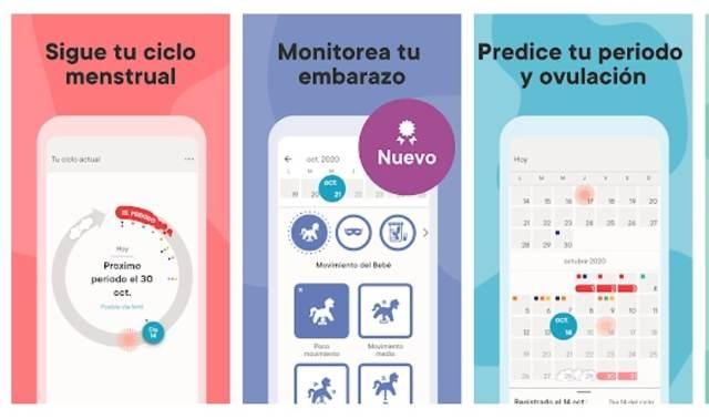 Calendario Menstrual Clue: Ovulación y Embarazo