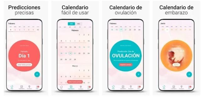 Calendario Menstrual, Ovulacion días Fertiles Flo