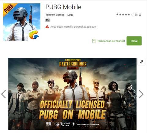 Download Game PUBG Mobile Android APK English Version Gratis
