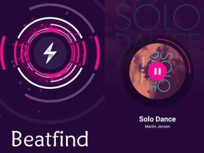 Beatfind aplikace na mobil