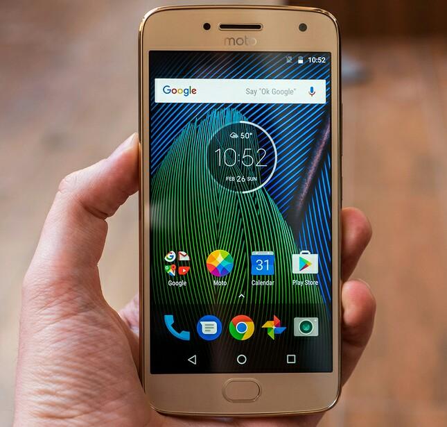 Android 8.1 Moto G5 Plus