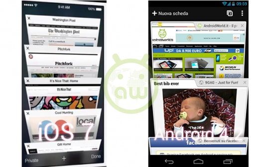 iOS 7 vs Android 4.2: Browser