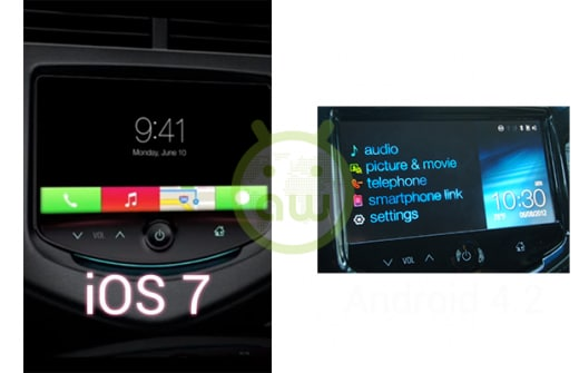 iOS 7 vs Android 4.2: in auto