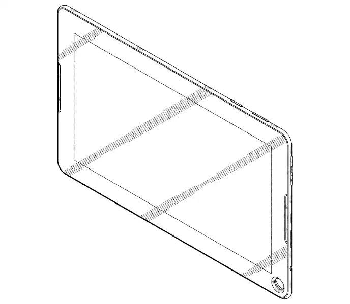 Samsung brevetta il design di un tablet con un buco (foto