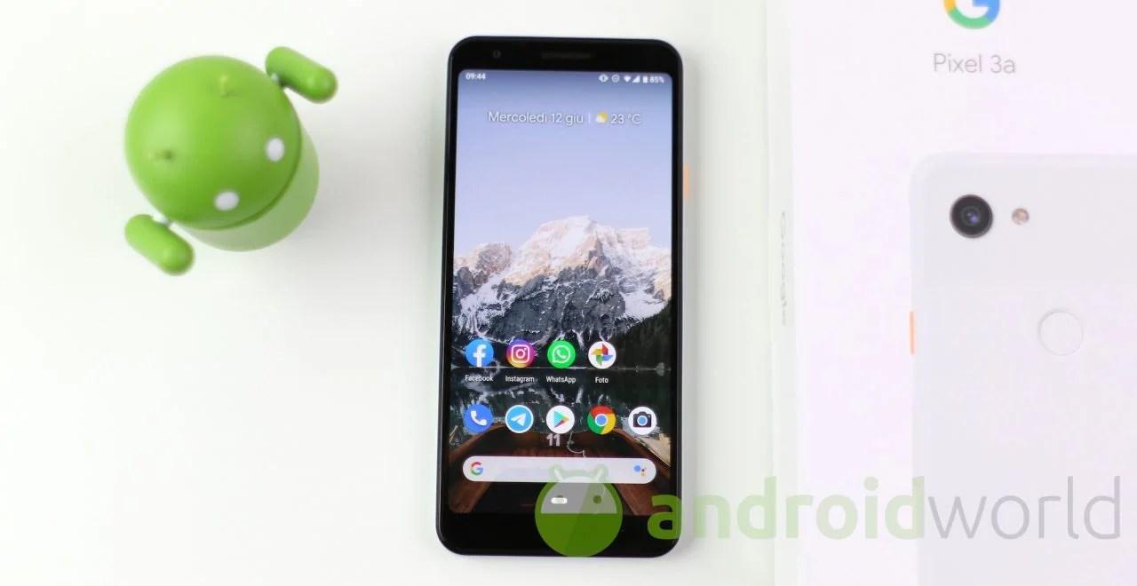 Recensione Google Pixel 3a: dall'hardware al software al video | AndroidWorld