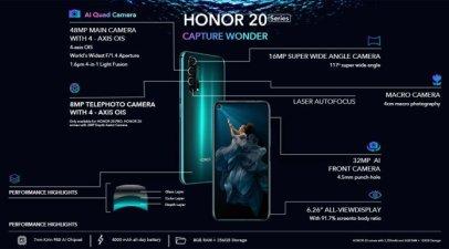هواوي تعلن رسميا عن ثلاثة هواتف جديدة من 20 Honor بكاميرا احترافية وشاشة كبيرة 5