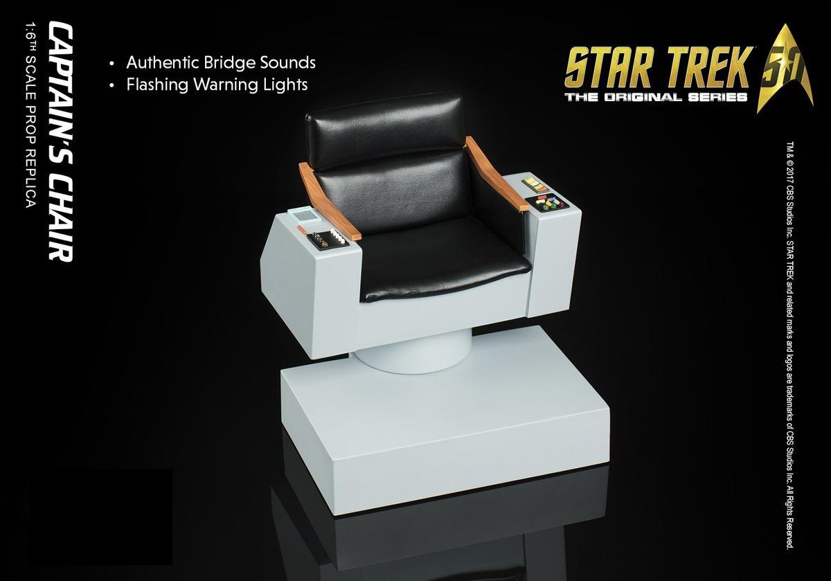 s chair replica transfer shower quantum mechanix star trek the original series 1 6 scale enterprise captain qmx