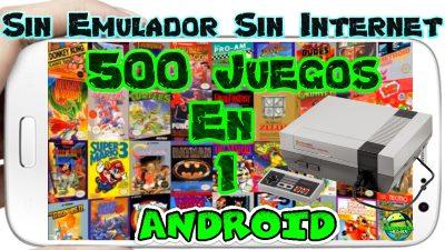 500 Juegos en 1 para Android apk Sin Emulador y Sin Internet